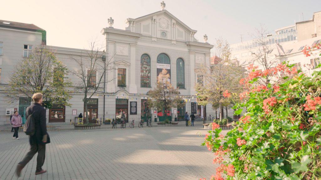 The old market hal in Bratislava